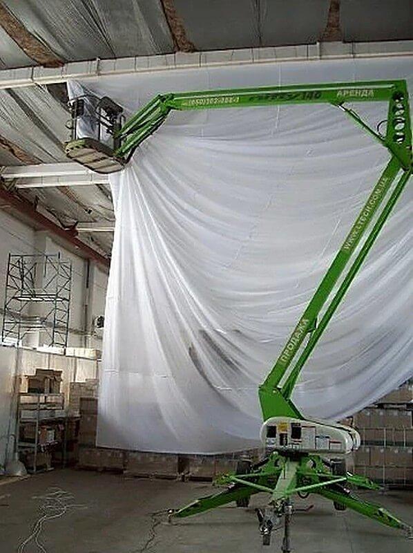 потолок на складе